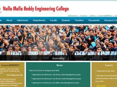 My college web site