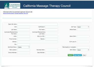 California Massage Therapy Council's (CAMTC) Web site
