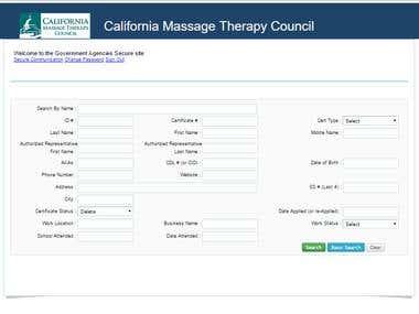 California Massage Therapy Council's (CAMTC) Web site