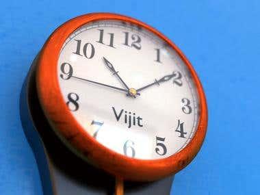 Clock 3d design