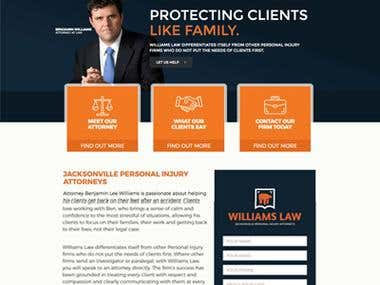 www.williamslawflorida.com / Custom CMS / Law Firm