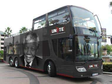 Unite4Mandela tour bus