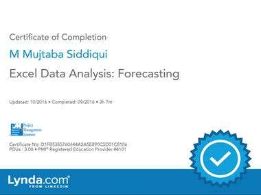 Excel Data Analysis Forecasting
