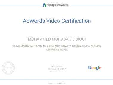 Google Adwords Fundamental and Google Video Certified