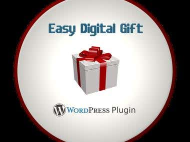 Easy Digital Gift (Wordpress Plugin)