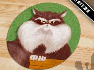 Cute and funny pet mat designs
