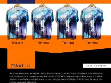 Oasis sublimation web design project