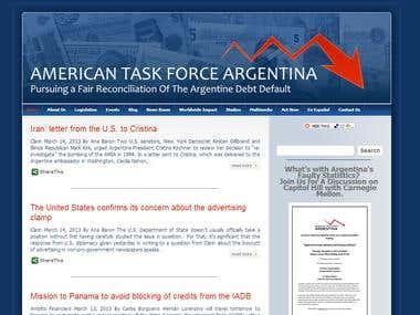 ATFA WordPress Website (http://www.atfa.org/)