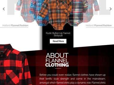 Flannel Clothing Web Design Project