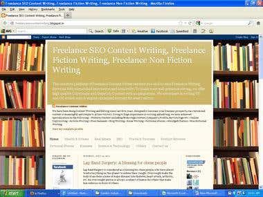 SEO Content Writing, Fiction Writing, Editing