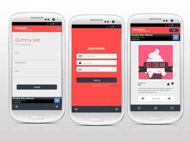 Winning entry for a Mobile App mockup