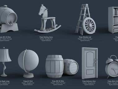 Props Modeling , Set design ,  Animation , Lighting