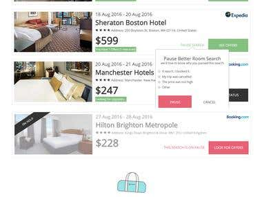 Better-Hotel Dashboard Page
