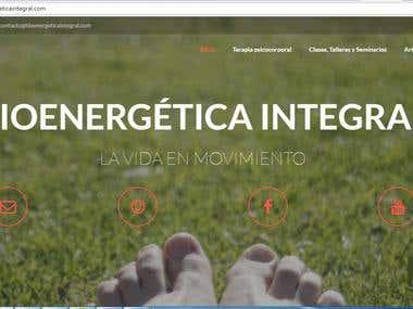 Pagina Web - Bioenergetica Integral
