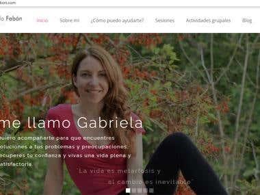 Diseño web - Gabriela Fabon