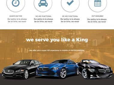 Taxi template design for uk company