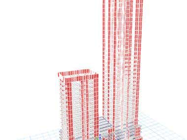 Structural design of 30-floor building with ETABS