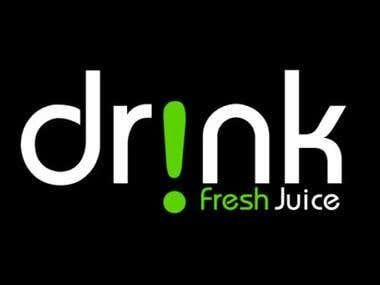 drinnk logo desing
