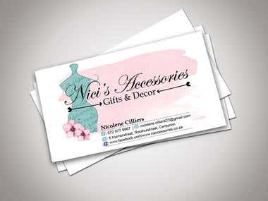 Nici's Accessories: Business Cards