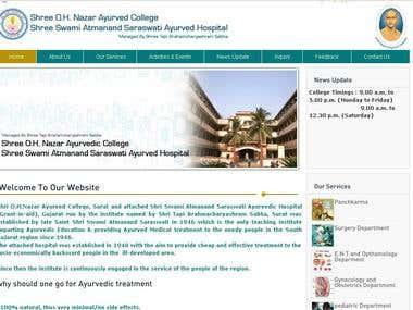 www.suratayurvedcollegeandhospital.org
