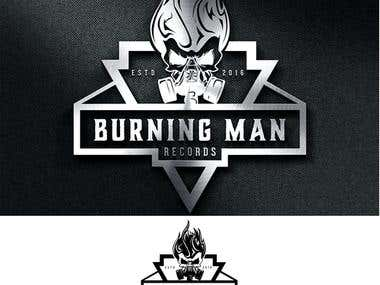 Burning Man Records - Logo