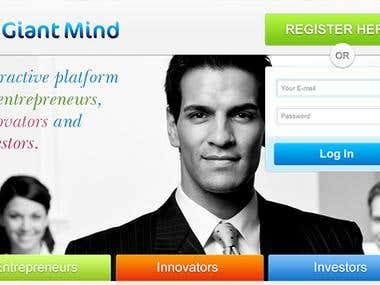 www.giantmind.com mock up