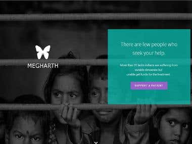 Megharth -Website and Admin Panel