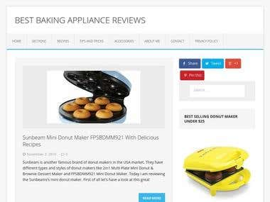 Amazon Affiliate Website to Earn Money: BakingAppliance.com