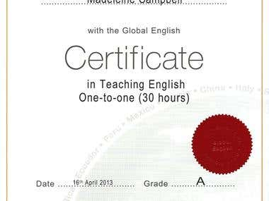 TESOL- English one-to-one