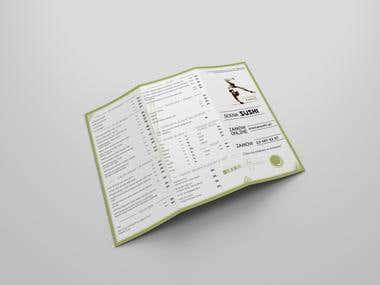 Design sushi menu