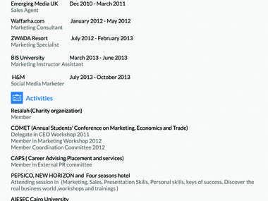 Resume (CV) Design