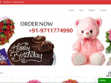 Wordpress+Woocommerce Online Cake Delivery Website