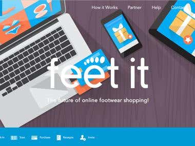 Feet App Landing Website