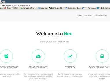 Simple Mooc Web Site