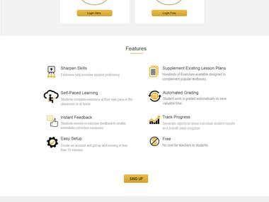 PSD Layout Design &  HTML