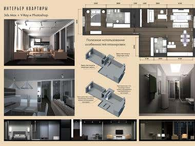 Interior design & 3d modelling & Visualization
