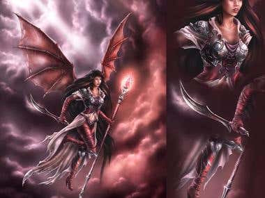 female winged warrior