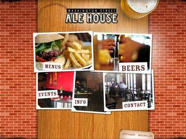 Ale House(Flash, Xml, Graphics design, CMS)