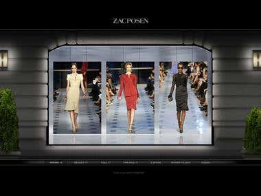 Zacposen (Flash, Xml, Graphics design, CMS)