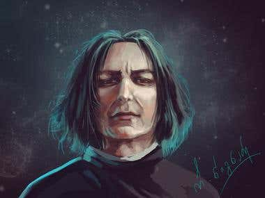 Severus Snape - concept art (digital)