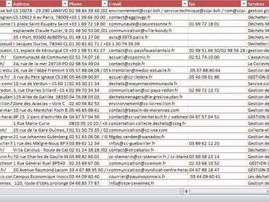 Web search, Data processing, Web Scarping