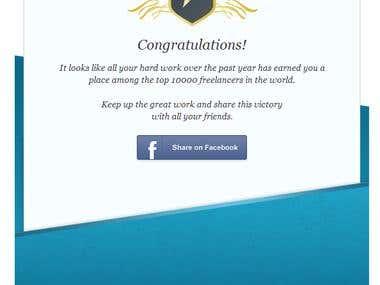 Awarded by freelancer!