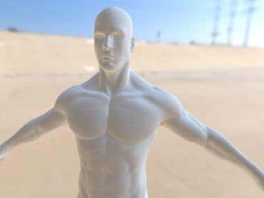 Highpoly Muscular Male 3d Model