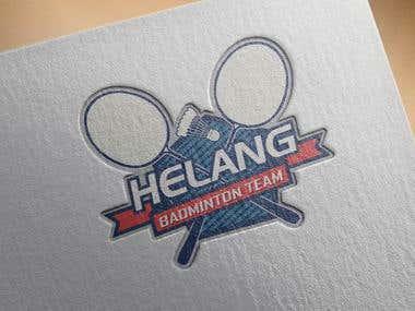 Logo Design : Helang badminton Team