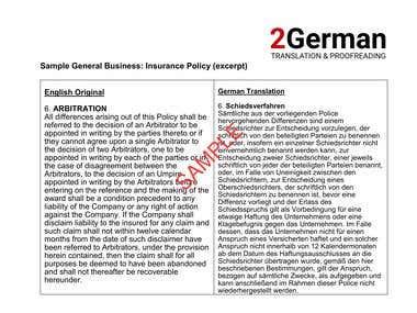 Translation Sample - General Business