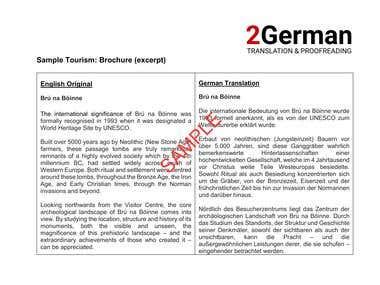 Translation Sample - Marketing/Advertising/Tourism