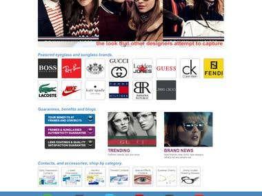 Online E-commerce Store { http://www.framesandcontacts.com }