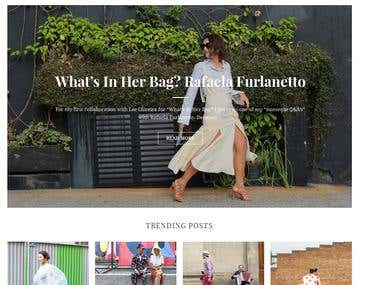Fashion Blog Development for LEE OLIVEIRA