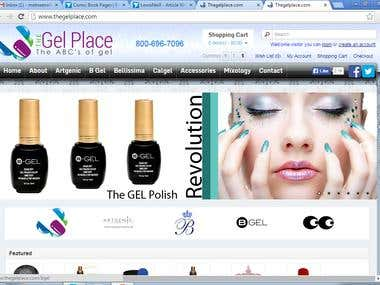 Web copy writing for Nail gel Salon