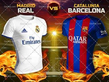 El Clasico Football match (Flyer and Poster)